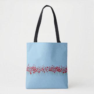 Bolsa Tote Sacola pequena das flores
