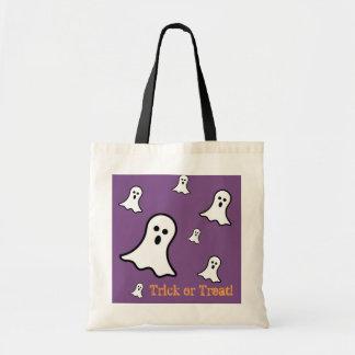 Bolsa Tote Sacola pequena do Dia das Bruxas dos fantasmas