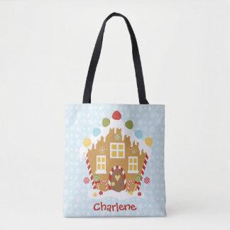 Bolsa Tote Sacola personalizada do Natal do pão-de-espécie