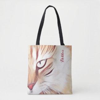 Bolsa Tote Sacola personalizada do olho de gato