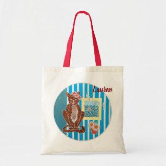 Bolsa Tote Sacola personalizada do orçamento com gato