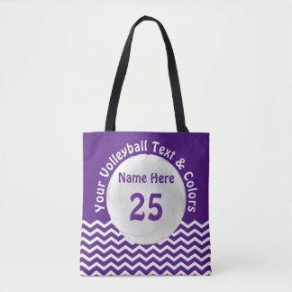 Bolsa Tote Sacola personalizada do voleibol suas cores, texto