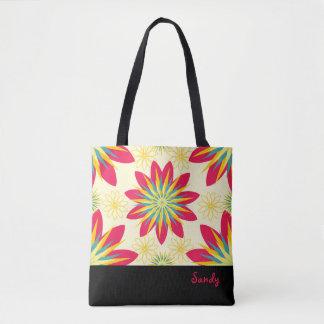 Bolsa Tote Sacola personalizada floral do bom começo de