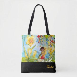Bolsa Tote Sacola personalizada Watercolour do duende do