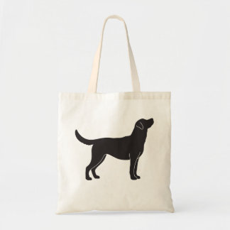 Bolsa Tote Sacola preta da silhueta do cão de labrador