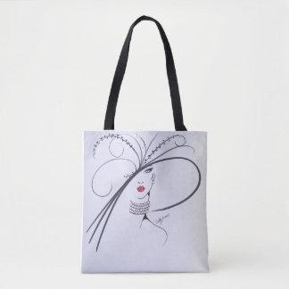 Bolsa Tote Sacola preto e branco bonita da forma