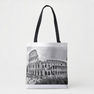 Bolsa Tote Sacola preto e branco de Colosseum Roma