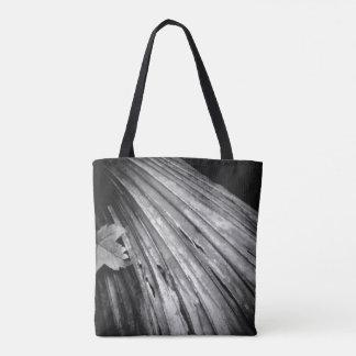 Bolsa Tote Sacola preto e branco de Reuseable