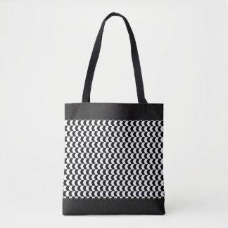 Bolsa Tote Sacola preto e branco do teste padrão das setas