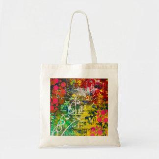 Bolsa Tote sacola projetada colorida abstrata