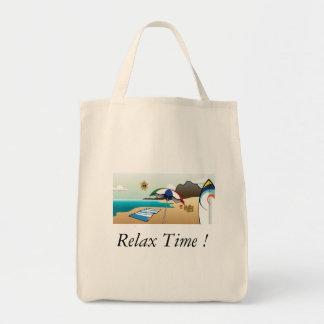 Bolsa Tote Sacola - relaxe o tempo