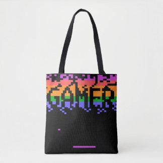 Bolsa Tote Sacola retro do Gamer de Pixelated