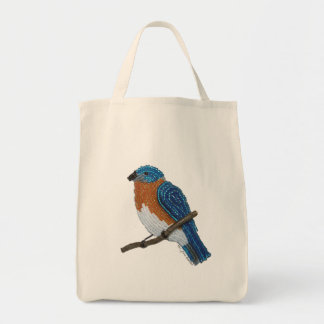 Bolsa Tote Sacola reusável do mantimento do Bluebird oriental