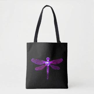 Bolsa Tote Sacola roxa da libélula