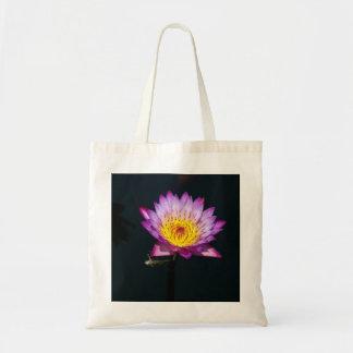 Bolsa Tote Sacola roxa da ninfa da libélula de Lotus