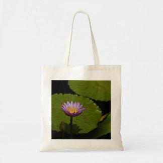 Bolsa Tote Sacola roxa de Lotus Waterlily