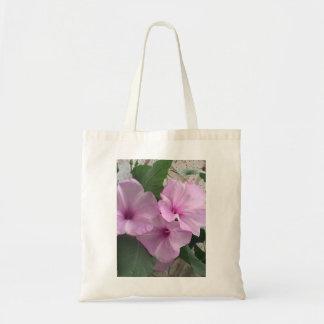 Bolsa Tote Sacola roxa dos zinnias