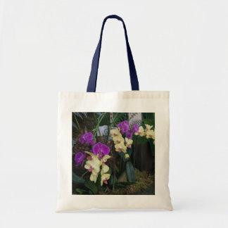 Bolsa Tote Sacola roxa e amarela das orquídeas