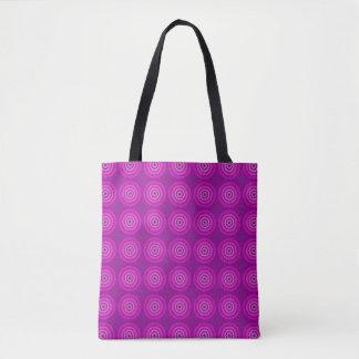 Bolsa Tote Sacola. Roxo com design do alvo do Lilac