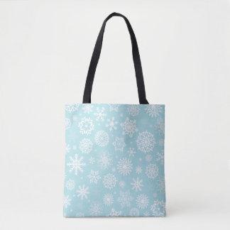 Bolsa Tote Sacola simples contudo elegante dos flocos de neve