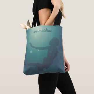 Bolsa Tote Sacola subaquática da sereia