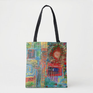 """Bolsa Tote Sacola """"Sunburst """" da arte abstracta"""