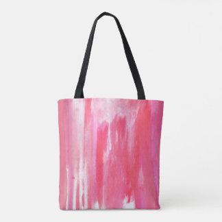 Bolsa Tote Sacola Textured tintura do laço rosa vermelha e