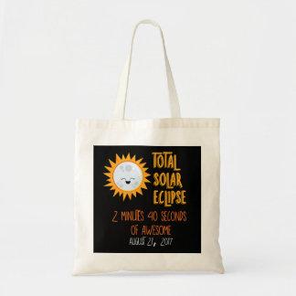 Bolsa Tote Sacola total de Emoji do eclipse solar