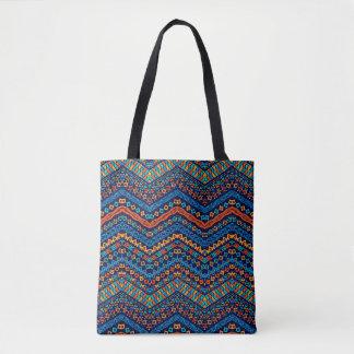 Bolsa Tote Sacola tribal colorida de Boho