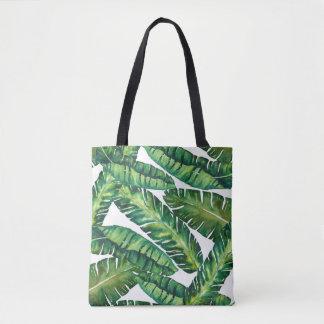 Bolsa Tote Sacola tropical da folha da banana