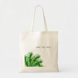 Bolsa Tote Sacola tropical da praia da folha da palmeira do