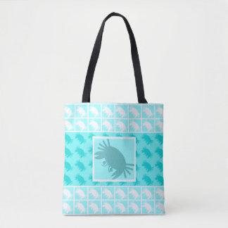 Bolsa Tote Sacola tropical da praia dos caranguejos azuis do