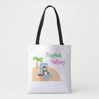 Bolsa Tote Sacola tropical do feriado