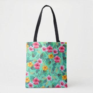 Bolsa Tote Sacola tropical do impressão floral