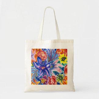 Bolsa Tote Sacola tropical do Watercolour do buquê da flor