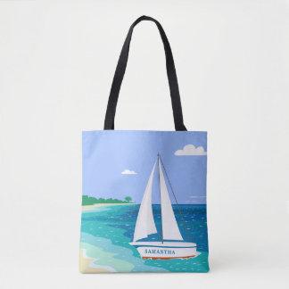 Bolsa Tote Sacola tropical litoral da praia do veleiro do
