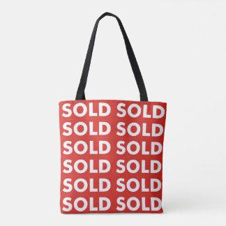 Bolsa Tote Sacola vendida vermelha das compras na mercearia