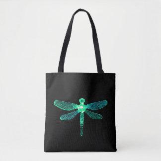 Bolsa Tote Sacola verde da libélula