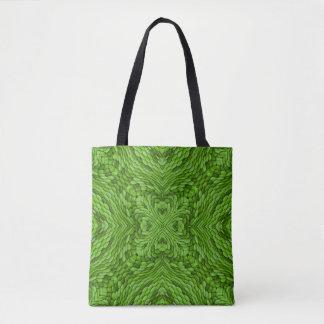 Bolsa Tote Sacola verde indo do caleidoscópio    do vintage