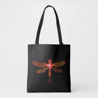 Bolsa Tote Sacola vermelha da libélula