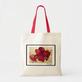 Bolsa Tote Sacola vermelha do Amaryllis do Natal