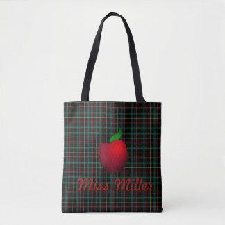 Bolsa Tote Sacola vermelha personalizada do professor de