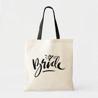 Bolsa Tote Sacolas à moda da noiva do casamento da tipografia