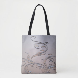 Bolsa Tote Sacolas abstratas do design do metal