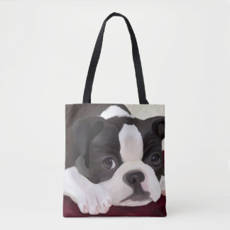 Bolsa Tote Sacolas bonitos do terrier de Boston do design