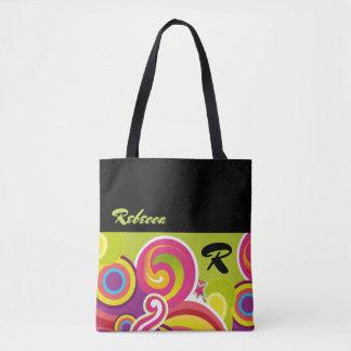 Bolsa Tote Sacolas coloridas feitas sob encomenda do presente