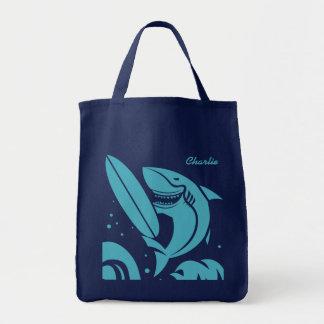 Bolsa Tote Sacolas conhecidas feitas sob encomenda do tubarão
