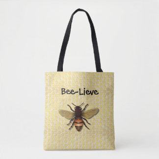 Bolsa Tote Sacolas da abelha do mel do favo de mel de