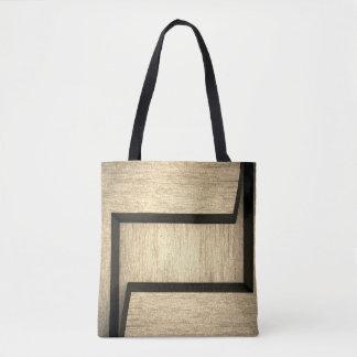 Bolsa Tote Sacolas de madeira lisas abstratas do design