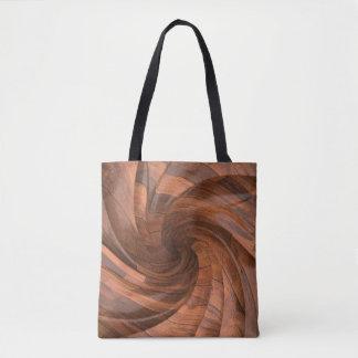 Bolsa Tote Sacolas de madeira segmentadas do design